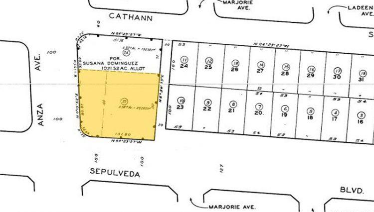 Plot Line View of STARBUCKS DRIVE-THRU CENTER at 4437 Sepulveda Boulevard, Torrance, CA 90505