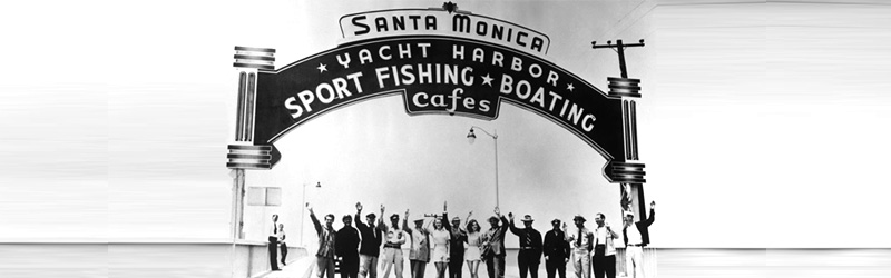 View of Santa Monica Pier Sign From the 1930s
