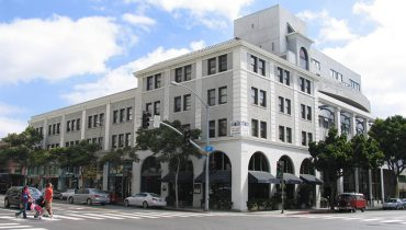 Exterior Building Facade and Street View of Office Space For Lease - Par Commercial Brokerage - 1411 5th Street, Santa Monica, CA 90401