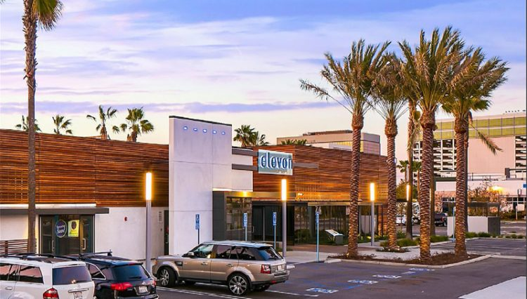 Facade and Parking Lot View of Retail Investment Property at 741 to 749 N. Douglas Street, Building 16, El Segundo, CA 90245