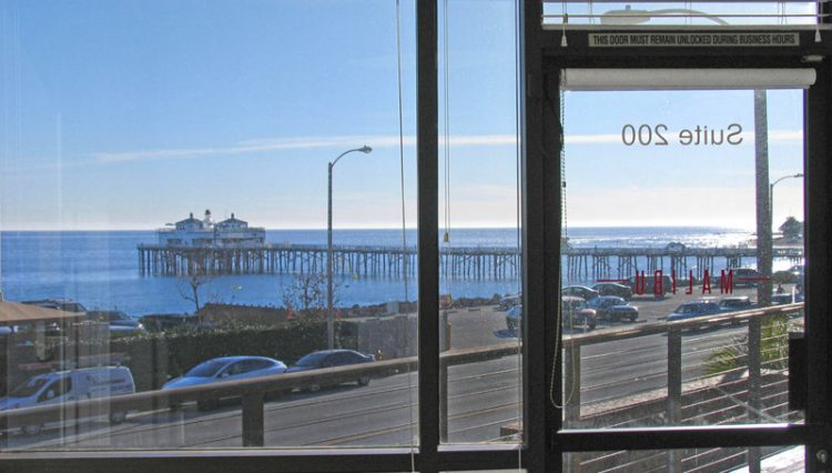 Interior View of Office Space Looking Over Ocean for Lease at 22917 Pacific Coast Highway, Malibu, CA 90265