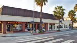Street, Sidewalk and Facade View of Premier Retail Building Sold at 2624 and 2632 Wilshire Boulevard, Santa Monica, CA 90403
