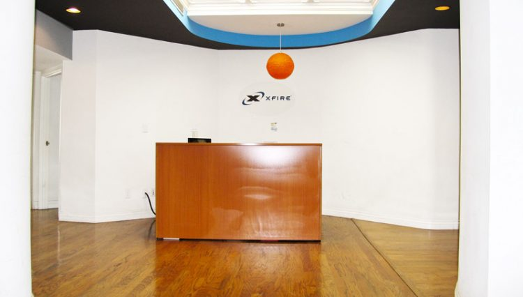 Interior Reception Desk Lobby View of Prime Office Space Sold at 312 Wilshire Boulevard, Santa Monica, CA 90401