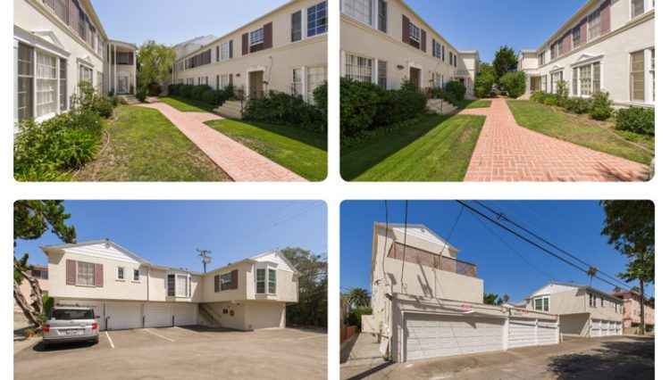 Exterior Street, Parking and Walkway Views of Sold Property Portfolio on San Vicente in Santa Monica, CA
