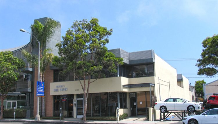 Exterior Street and Facade View of Business Property at 1323 Lincoln Boulevard, Santa Monica, CA 90401