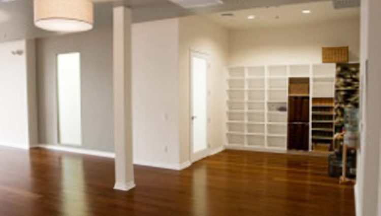 Interior Main Studio View of Yoga Gym Space For Lease at 13020 Pacific Promenade Playa Vista, CA 90094