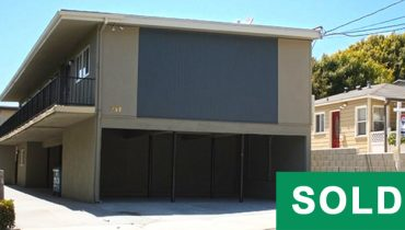 Street and Building Facade View of 5-Unit Apartment Building at 737 Eucalyptus Drive, El Segundo, CA 90245,