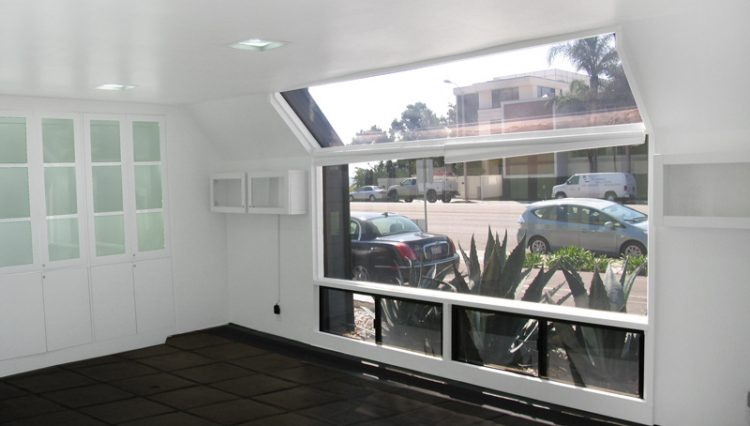 Interior Office View with White Cabinet View of Office Studio Space For Lease - Par Commercial Brokerage-22653 Pacific Coast Highway, Malibu, CA 90265