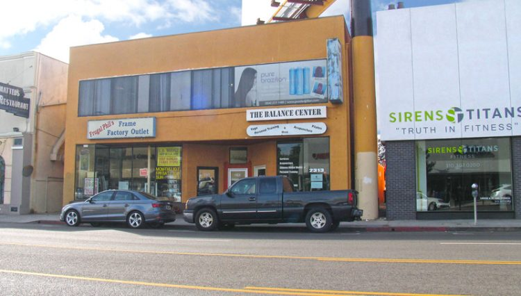 Street and Facade View of Creative Office Space For Lease at 2315 Westwood Boulevard, Los Angeles, CA 90064