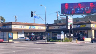 Street and Facade View of Retail Space For Lease at 2400 Barrington Avenue, Los Angeles, CA 90064