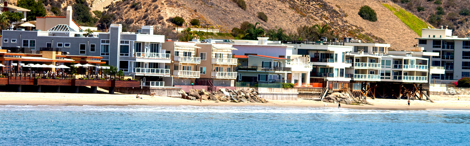 Picture of the Malibu Coastline with Residential Properties