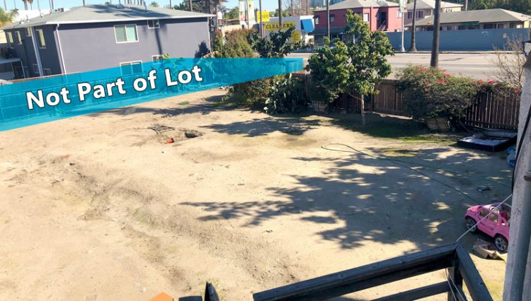 Exterior View of Lot Three of of VENICE DEVELOPMENT OPPORTUNITY ON FOUR LOTS at 707 Washington Blvd., Venice, CA 90291