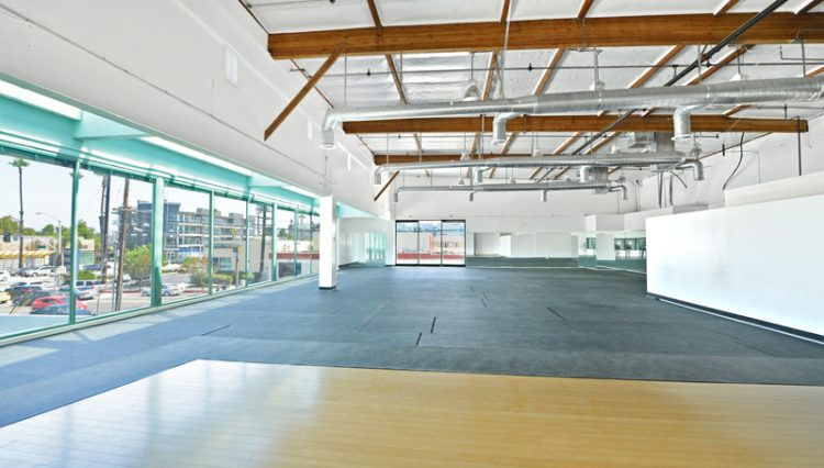 View of Interior Retail Space with many windows of Retail Spaces for Lease at 13400 Washington Boulevard, Marina Del Rey, CA 90292