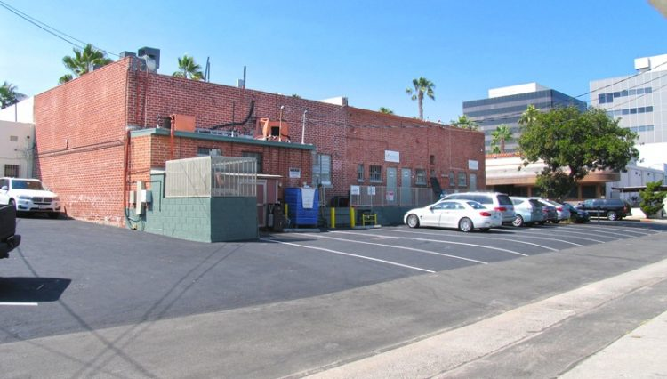 Exterior Back Parking Lot View of Business Sold at 2624 to 2636 Wilshire Boulevard, Santa Monica, CA 90403