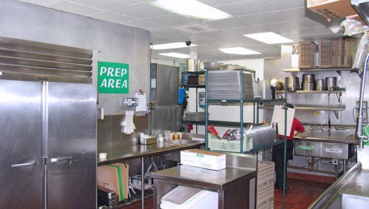 Prep Kitchen View of Restaurant Retail Space For Lease at 2002 Wilshire Boulevard, Santa Monica CA 90403