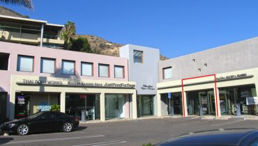 Exterior View of Prime Retail Space For Lease at 22627 Pacific Coast Highway, Malibu, CA 90265