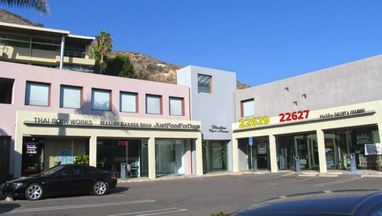 Exterior View of Prime Retail Space For Lease at 22627 and 22629 Pacific Coast Highway, Malibu, CA 90265