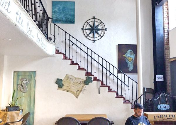 Interior Staircase View of Restaurant Space For Lease at 356 7th Street, San Pedro, CA 90731