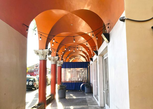Exterior Hallway View of Restaurant Space for Lease at 235 Main Street, Venice, CA