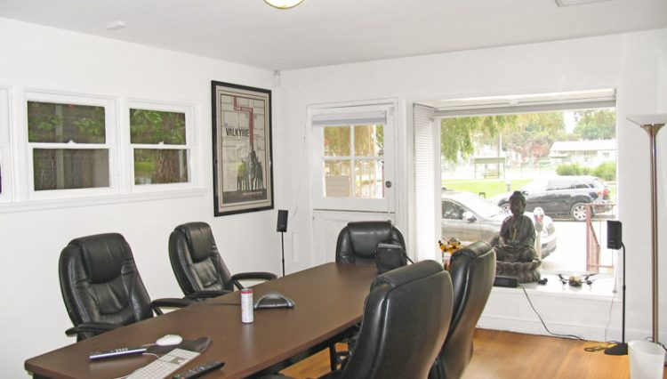Interior Meeting Room View of House for Lease with Retail Office Zoning at 1151 25th Street, Santa Monica, CA 90403