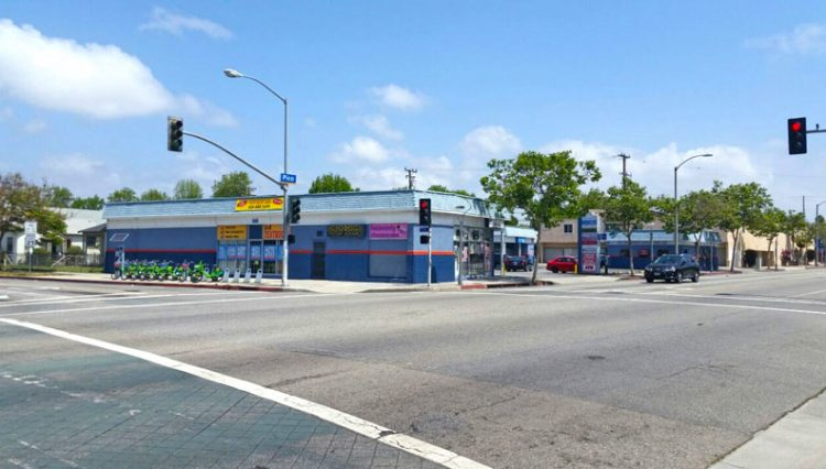 Exterior Street Corner View of Business for Sale at 1707 Pico Boulevard, Santa Monica, CA