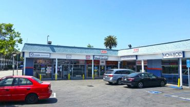 Exterior Parking Lot View of Business for Sale at 1707 Pico Boulevard, Santa Monica, CA