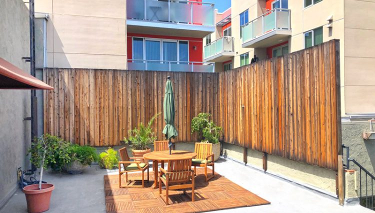 Common Outdoor Space View of Office Space for Lease from Par Commercial Brokerage - 1321 7th Street, Suite 300, Santa Monica, CA 90401