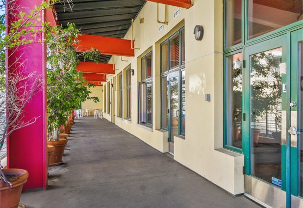 Exterior Hallway View of Penthouse Office Space for Lease at 321 Santa Monica Boulevard, Unit 300, Santa Monica, CA 90401