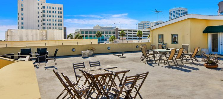 Exterior Rooftop Deck View of Penthouse Office Space for Lease at 321 Santa Monica Boulevard, Unit 300, Santa Monica, CA 90401