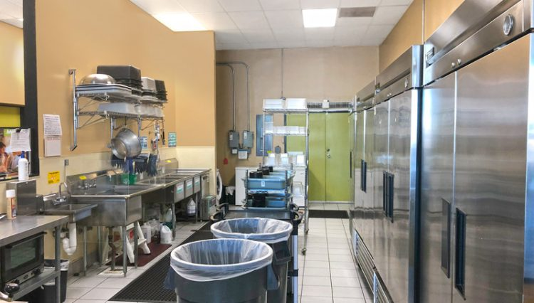 Interior Kitchen View of Retail Space for Lease at 11700 National Boulevard, Suite N, Los Angeles, CA 90064
