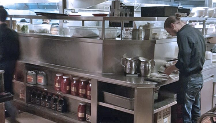 Interior View of Kitchen at Restaurant Space for Lease at 326 Wilshire Boulevard, Santa Monica, CA 90401