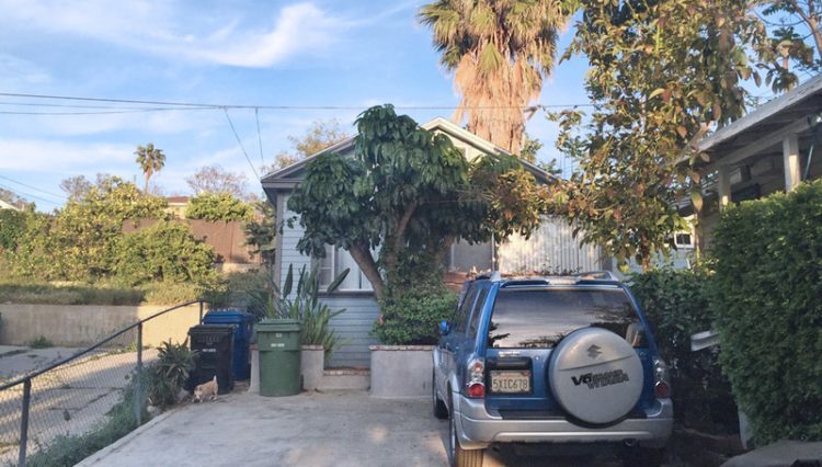 Rear Street View of 4 Unit Apartment Building For Sale at 636 North Virgil Avenue, Los Angeles, CA 90004