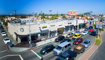 Aerial View of Retail Space For Lease at 5265 E. 2nd Street, Belmont Shore, Long Beach, CA 90803